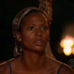 Candace at Tribal Council.