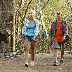 Kelley and her father Dale arriving on <a href=