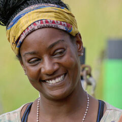 Cirie at the challenge.
