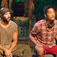 Tony and Woo at the Final Tribal Council.
