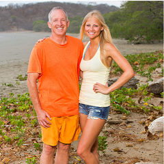Kelley and her father <a href=