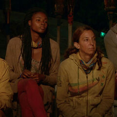 Debbie at her last Tribal Council.