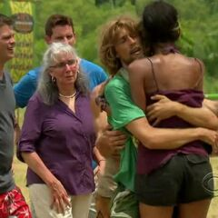 Brenda giving up her reward to the other survivors.