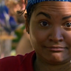 Sandra reacting to J.T. thinking it was <a href=