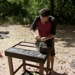 Terry competes in the Immunity Challenge