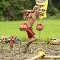 Carter at an Immunity Challenge.