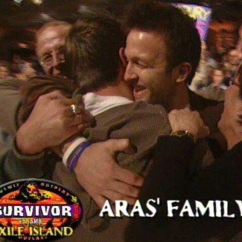 Vytas congratulates Aras for his win at the  <a href=