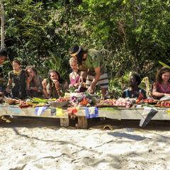 The castaways feast.