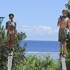 Tasha and Spencer at the 4th individual Immunity Challenge.