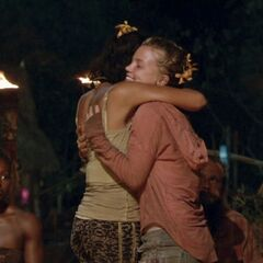 Julia and Michele share one last hug.