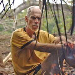 Dan making fire on La Mina.