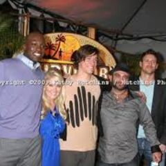 Jaison at the reunion with the final five of <i>Survivor: Samoa</i>.