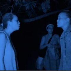 Peih-Gee arguing with Abi-Maria.