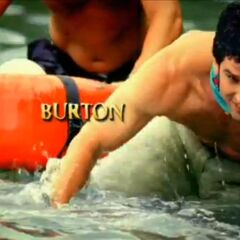 Burton's motion shot in the opening.