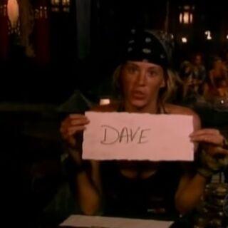 Ashleys last vote for Dave.