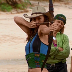 Jerri competes for immunity