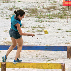 Aubry competing in <i><a href=