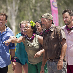 Keith watching at the Immunity Challenge.