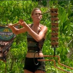Kim competes in the Final Immunity Challenge