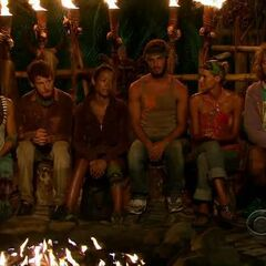The final six at a fateful Tribal Council.
