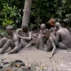 Pagong at their mud volcano.