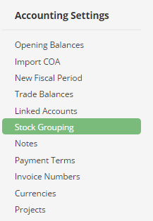 Stock grouping
