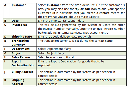 Invoice details 1