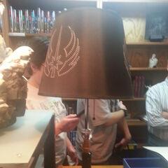 A lightsaber lamp.