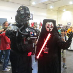 A TIE pilot and Darth Nihilus.
