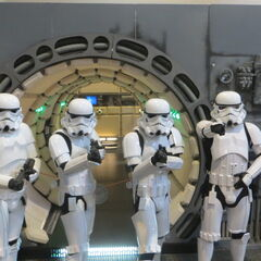 Stormtroopers on the <i>Millennium Falcon.</i>