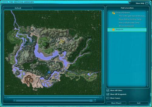 Planetary map