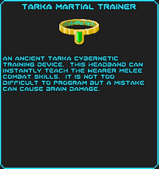 Tarka Martial Trainer info