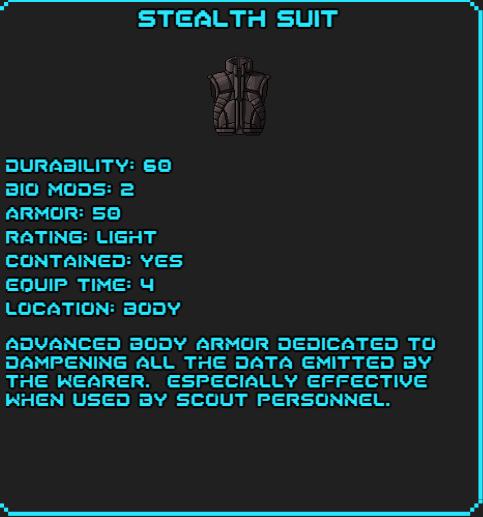 Stealth Suit Sotsdex