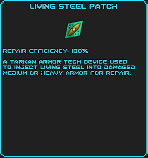 Living Steel Patch info
