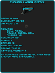 Enduro Laser Pistol-info