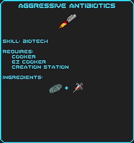 Aggressive Antibiotics recipe