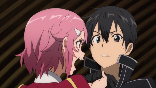 File:Lisbeth lashing out at Kirito for breaking her sword.png