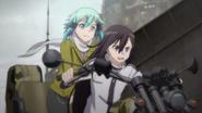 Kirito and Sinon on the buggy
