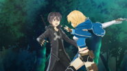 Kirito caught off-guard by Philia's assault