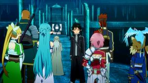 Kirito explaining the quest