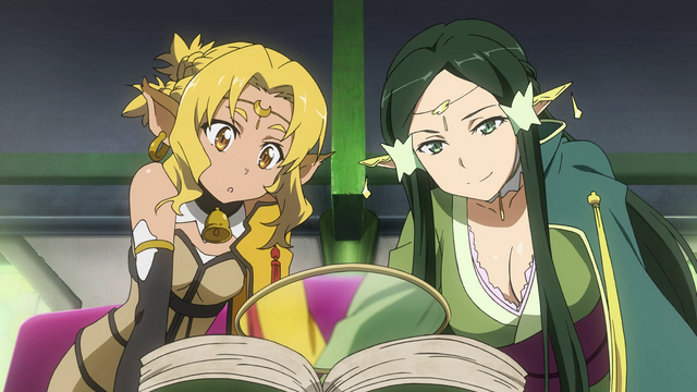 File:LS Sakuya and Alicia using a book to investigate.png