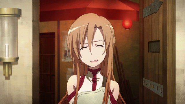 File:Asuna in Agil's shop in episode 5.png