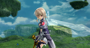 Lost Song Strea holding sword