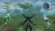 LS Kirito Asuna Leafa in flight