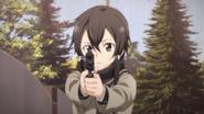 Shino aiming the Government 1911