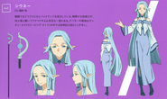Siune's character designs (booklet)