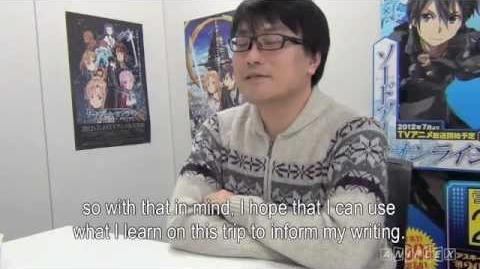 Reki Kawahara Exclusive Interview Part 1