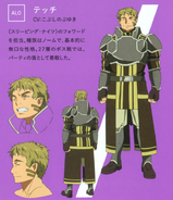 Tecchi's character designs (booklet)