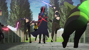 Kirito taking on Titan's hand