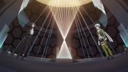 Sinon and Kirito facing each other